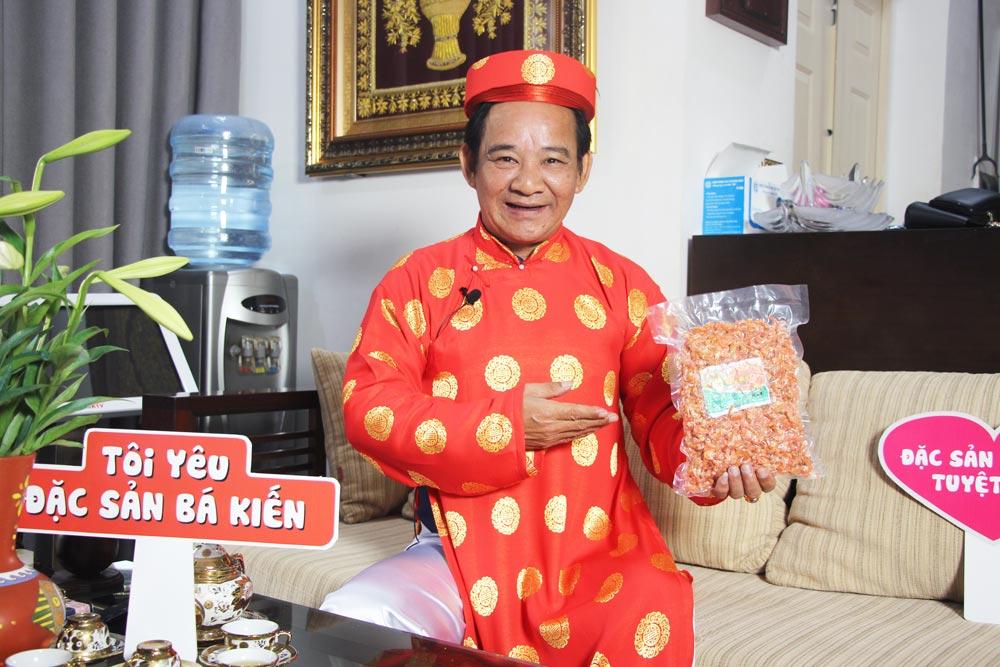 Nghệ sĩ Quang Tèo đánh giá cao chất lượng Tôm khô Bá Kiến
